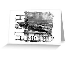 Aircraft carrier Lexington Greeting Card