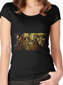 Last Supper Reproduction Women's Fitted Scoop T-Shirt
