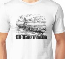 Aircraft carrier Lexington Unisex T-Shirt