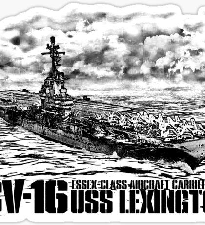 Aircraft carrier Lexington Sticker