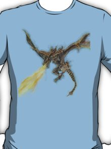 Elder Dragon Watercolor and Ink Painting T-Shirt