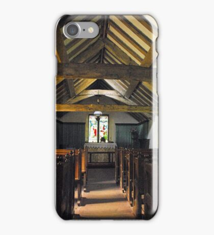 Church of St Olaf, Wasdale head. Interior. iPhone Case/Skin
