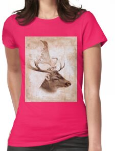 Antique Deer Womens Fitted T-Shirt