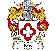 Sosa Coat of Arms/ Sosa Family Crest Photographic Print