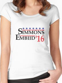 Simmons Embiid 16 Women's Fitted Scoop T-Shirt