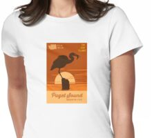 Puget Sound. Womens Fitted T-Shirt