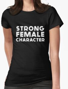 STRONG FEMALE CHARACTER GILLIAN ANDERSON Womens Fitted T-Shirt