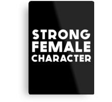STRONG FEMALE CHARACTER GILLIAN ANDERSON Metal Print