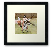 Violin Fox Framed Print