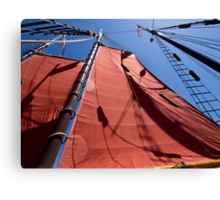 Aboard the Tallship American Pride Canvas Print