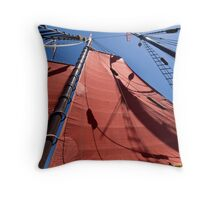 Aboard the Tallship American Pride Throw Pillow