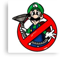 Ghostbuster Mashup Luigi Canvas Print