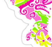 Lilly Pulitzer Maryland Print Inspired  Sticker