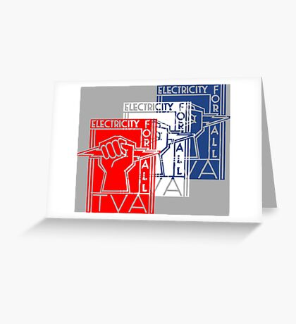 TVA-Tennessee Valley Authority-Patriotic New Deal Poster Greeting Card