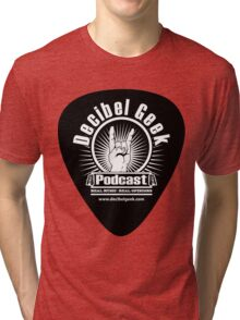 Decibel Geek Guitar Pick! Tri-blend T-Shirt