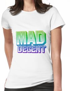 Rainbow Mad Decent Logo Womens Fitted T-Shirt