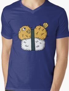 Puffer Sushi Mens V-Neck T-Shirt