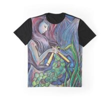 Kitting Mermaid Graphic T-Shirt