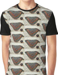 Knitted Shawl and Yarn Ball Graphic T-Shirt