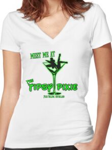 The Tipsy Pixie Women's Fitted V-Neck T-Shirt