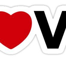 Simplistic LOVE YOU Sticker