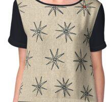 Red Dot Star pattern design  Chiffon Top