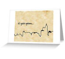 It's Quiet Uptown Lyrics Hamilton Greeting Card