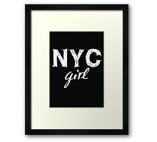 NYC New York City girl  Framed Print