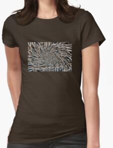 Wooden Branches Seamless Pattern Background Womens Fitted T-Shirt