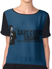 The Last Chance Saloon Chiffon Top