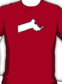 Massachusetts State Outline T-Shirt
