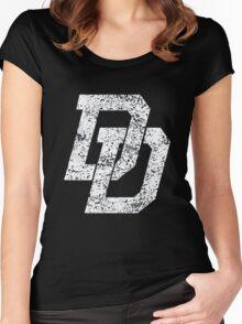 D logo Women's Fitted Scoop T-Shirt