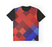 Abstraction #077 Red Blue Diamonds Graphic T-Shirt