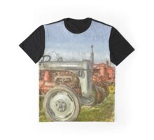 Vintage Tractors Prince Edward Island Pencil Graphic T-Shirt