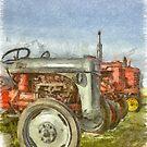 Vintage Tractors Prince Edward Island Pencil by Edward Fielding