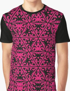 Pink Texture Graphic T-Shirt