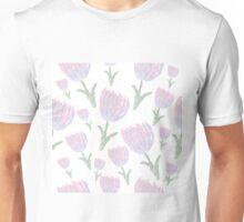 Watercolor tulips Unisex T-Shirt