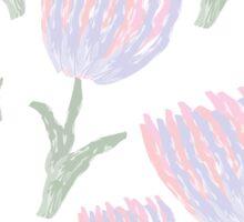 Watercolor tulips Sticker