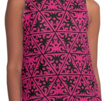 Pink Texture Contrast Tank