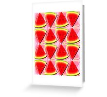 Juicy Watermelon Triangles Abstract Greeting Card