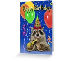 Birthday Raccoon Greeting Card