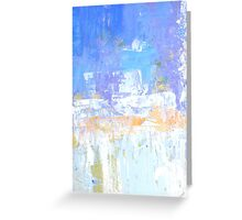 Blue aqua abstract no 45 Greeting Card