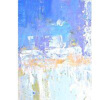 Blue aqua abstract no 45 Photographic Print