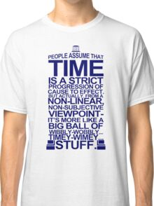 DOCTOR WHO TYPOGRAPHY Doc Dr BBC Tardis Time Dalek New Tenth Timey Wimey Classic T-Shirt