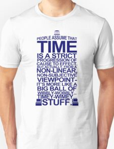 DOCTOR WHO TYPOGRAPHY Doc Dr BBC Tardis Time Dalek New Tenth Timey Wimey Unisex T-Shirt