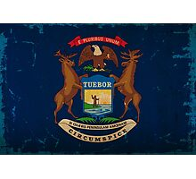 Michigan State Flag VINTAGE Photographic Print
