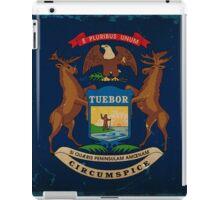 Michigan State Flag VINTAGE iPad Case/Skin