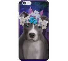 Pitbull puppy power iPhone Case/Skin