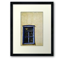 Vintage window Adobe wall Framed Print
