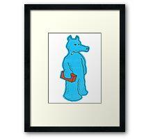 Blue Quasimoto Framed Print